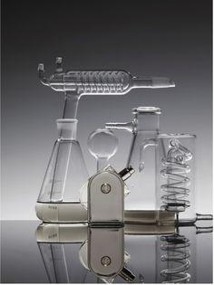 Metz & Racine.  Beauty.  Still Life.  Glassware.  Science.  Hermes.  Liquids.