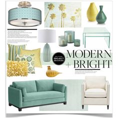 Modern + Bright With Design Crush 3 by jpetersen on Polyvore featuring interior, interiors, interior design, home, home decor, interior decorating, Giclee Glow, Pier 1 Imports, Tozai and Ethan Allen