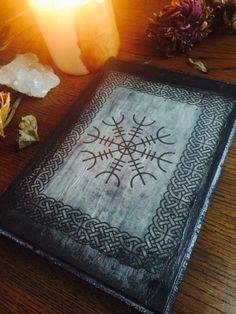 Viking Runes Protection Symbol Altar Plate