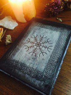 Viking Runes Protection Symbol Altar Plate