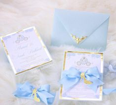 Sweet 16 and Quinceañeras units) Cinderella theme invitations for birthday parties or any occasi Cinderella Sweet 16, Cinderella Theme, Cinderella Birthday, Cinderella Wedding, Cinderella Castle, Quince Decorations, Quinceanera Decorations, Quinceanera Party, Quinceanera Planning