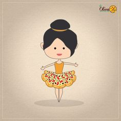 world dance day with pizza illustration. graphic graphicdesig