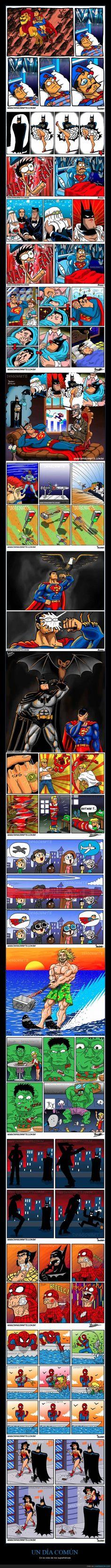 UN DÍA COMÚN - En la vida de los superhéroes