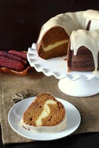 Cream Cheese Pumpkin Bundt Cake - Chocolate with Grace