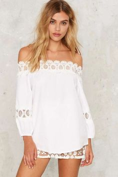 On the Edge Off-the-Shoulder Top - Sale: 40% Off | Tops