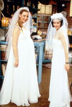 "The one with all the wedding dresses. . . ""At least you didn't get your dress at It's Not Too Late!"" Phoebe"