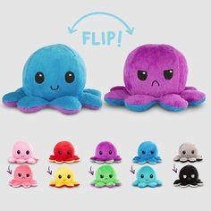 Reversible Octopus Mini Plushies TeeTurtle Minis
