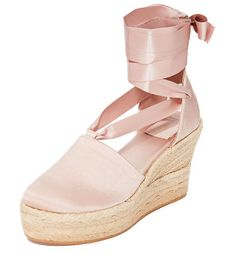 b7d7acc599a elisa 90mm wedge espadrilles by Tory Burch. An embroidered logo accents the heel  cutout on