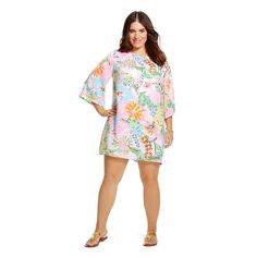 Lilly Pulitzer for Target Women's Plus Size Satin Dress - Nosie Posey