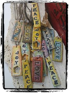 Hippy Chic Style Pendant, Tie Dye Pendant, Faux Ceramic Pendant, Summer Of Love on Etsy, $15.00