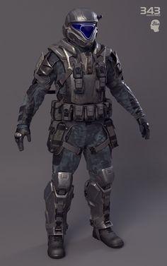ArtStation - Halo 2: Anniversary ODST soldier., Sergey Samuilov