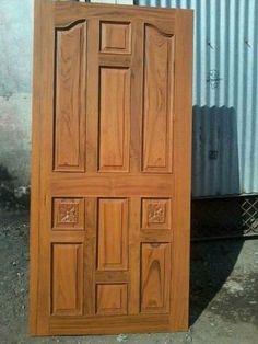 Single Door Design, Single Floor House Design, Front Door Design Wood, Room Door Design, Wood Front Doors, Wooden Door Design, Exterior Front Doors, Entry Doors, Modern Wooden Doors