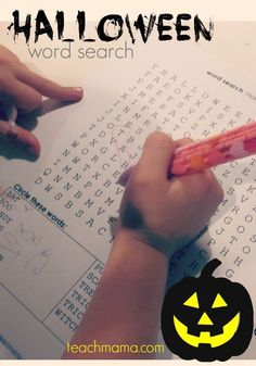 Halloween is just around the corner. Looking for a fun halloween activity for the kids but something that is educational too? This halloween word search for kids helps them to identify and find words, making for a fun educational game. Use this in your classroom or as part of your halloween party! #teachmama #halloween #halloweenparty #wordsearch #words #classroomparty #activitiesforkids #learning #elementary