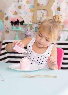 Cue the Confetti! Bailey is Five! | CatchMyParty.com