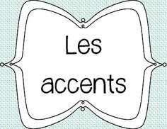 French accent classroom posters