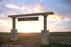 Old West_Fencing# - In old westerns, there's always a place featured that has a Wooden_plank# hanging as a assign post over an open gate flanked by two stone posts. The posts welcomed weary travelers to a friendly place. Recreate that old west feel with a replica fence# that welcomes visitors.