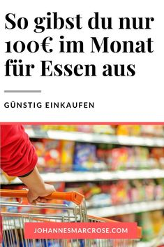 How to get by with just € 100 a month for groceries – save money when shopping 100 Euro, Budget Planer, Finance Tips, Amazing Bathrooms, Saving Money, Have Fun, Monat, Moustache, Tricks