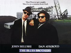 """3D movie poster: """"The Blues Brothers"""":   """"The Blues Brothers"""" movie poster in fake 3D. One of the best movies ever. Ever!  Made with Moho Pro 12"""