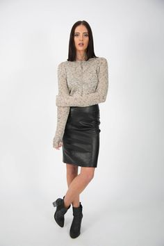 Ice Express Leather Look Skirt