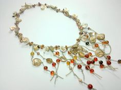 Sea shell necklace Summer necklace spring Beach by theflowerdesign, $42.00