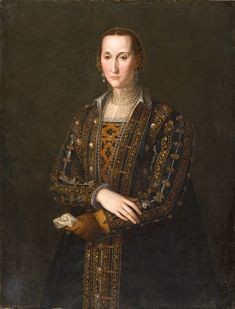 Eleanor of Toledo, Duchess of Florence. Painting by the workshop of Bronzino. 1560