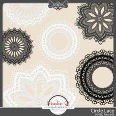 LOGO????  SOBREPOSTAS.  Circle Lace elements pack from Studio Q #digiscrap #scrapbooking