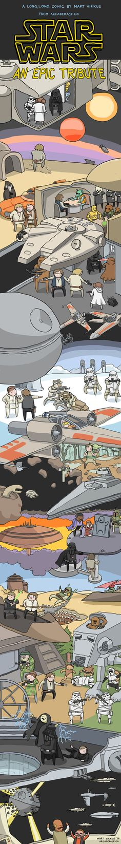 The Entire Star Wars Original Trilogy in One Big Comic http://geekxgirls.com/article.php?ID=8950
