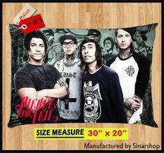 PIERCE THE VEIL Post Hardcore Rock Band Pillow Case by Sinarshop, $14.99