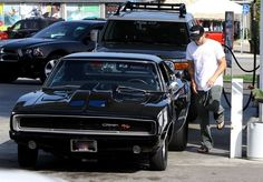 If you were ever wondering what Brody Jenner actually does with his days...you're looking at it. Brody was spotted filling up his Dodge Charger at a gas station in Los Angeles.