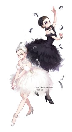 Black to White swan