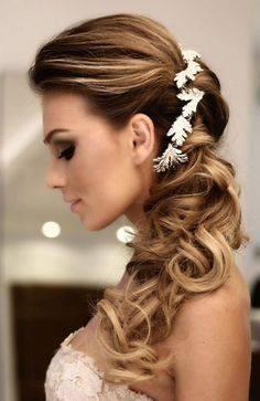 Peinados con cabello suelto para novias