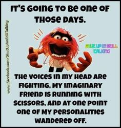 Ive had those days Funny Cartoons, Funny Jokes, Hilarious, Silly Jokes, Wisdom Quotes, Life Quotes, Animal Muppet, Great Quotes, Inspirational Quotes