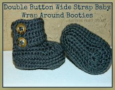 Quartered Heart Crochet: New FREE Crochet Pattern: Newborn Wide Strap Baby Booties (perfect for boys and even girls)