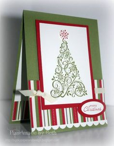 WT346, Snow Swirled Tree.. by bigsky - Cards and Paper Crafts at Splitcoaststampers