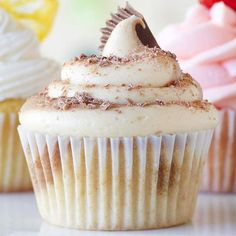 Chocolate and peanut butter come together in this mouth-watering cupcake with creamy frosting. More decadent chocolate cupcakes: http://www.bhg.com/recipes/desserts/cupcakes/decadent-chocolate-cupcakes/?socsrc=bhgpin061213peanutbutterchocolate=18 @Better Homes and Gardens