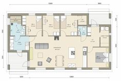 Kastelli - Ready 119/136 Sissi, Floor Plans, Floor Plan Drawing, House Floor Plans
