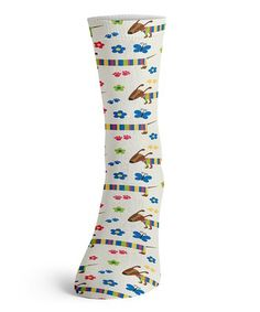 Look at this #zulilyfind! Pink & Blue Rainbow Dachshund Socks #zulilyfinds