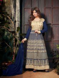 Bold Blue and Beige Salwar Suit Catalog Collection #AyeshaTakia #SalwarSuit #Dress #IndiaSupplier #DressSupplier #Manufacturer #WholesaleDress #WholesaleSalwarSuit #Blue #AyeshaTakia
