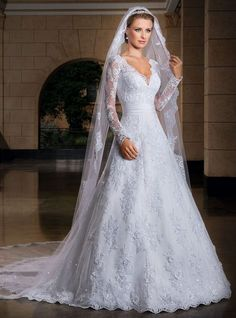 Shop our best value Long Sleeve Wedding Dress on AliExpress. Check out more Long Sleeve Wedding Dress items in Weddings & Events, Mother & Kids, Women's Clothing, Men's Clothing! And don't miss out on limited deals on Long Sleeve Wedding Dress! Wedding Dress Organza, Wedding Dress With Veil, 2015 Wedding Dresses, Formal Dresses For Weddings, Wedding Dress Sleeves, Elegant Wedding Dress, Cheap Wedding Dress, Bridal Dresses, Lace Dress