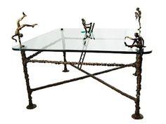 best ever Sculptural Bronze Furniture low table by Nick Davis