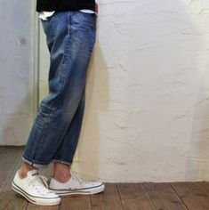 Fashion Wear, Spring Fashion, Winter Fashion, Mens Fashion, Outfits With Converse, Patched Jeans, Men Style Tips, Denim Outfit, Clothes Horse