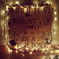 Pink Floyd | Wish You Were Here | Lyrics | Music | Decor | DIY | Plywood | String Lights | Cricut
