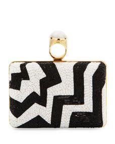 Beaded Ring Clutch Bag