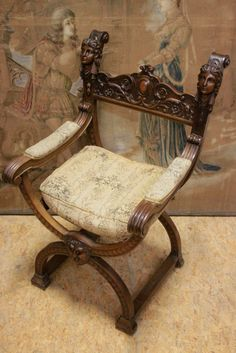 Merveilleux Antique French Arm Chair Wonderful Carved Female By Thegatz