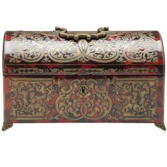 Boulle Casket   From a unique collection of antique and modern boxes at https://www.1stdibs.com/furniture/more-furniture-collectibles/boxes/