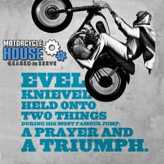Evel Knievel was a man ahead of his time... #Triumph - uploaded by #MotorcycleHouse