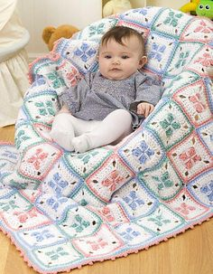 Ravelry: Baby Checks Blanket pattern by Coats & Clark