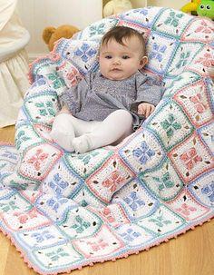 Ravelry: Baby Checks Blanket pattern by Coats & Clark