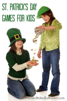 St. Patrick's Day Games for Kids - Here are 4 St. Patrick's Day games for children that are perfect for family gatherings or school parties.