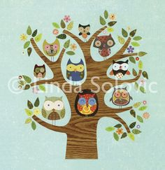Birds of a feather (original: Santoro London Friends of a Feather Greeting Card by Linda Solovic, via Behance) London Friend, Santoro London, Owl Applique, Owl Art, Cute Owl, Thing 1, Cute Illustration, Art Images, Illustrations Posters